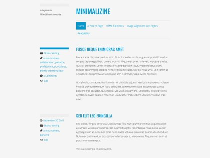 Minimalizine WordPress Theme
