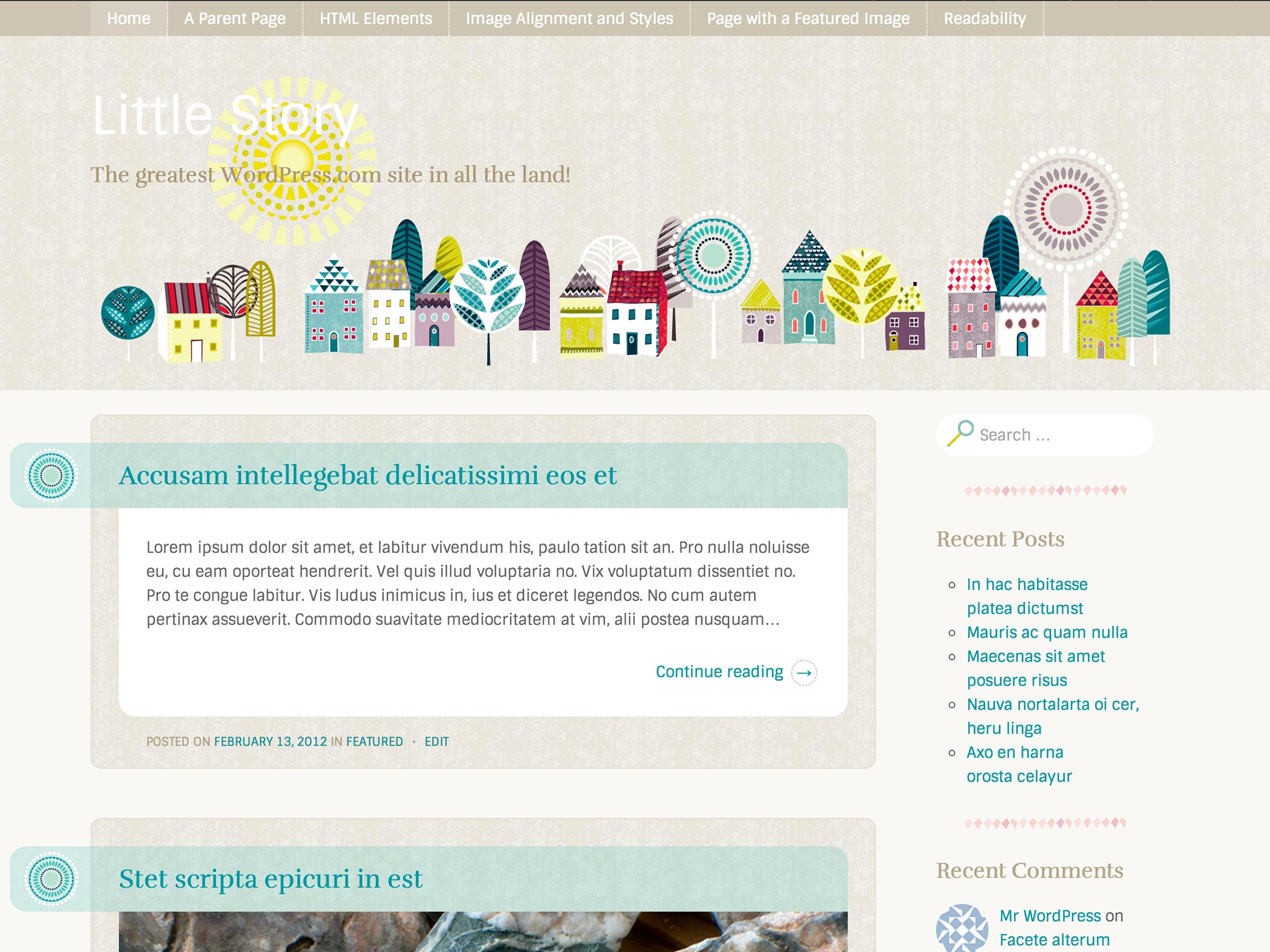 Little Story WordPress Theme