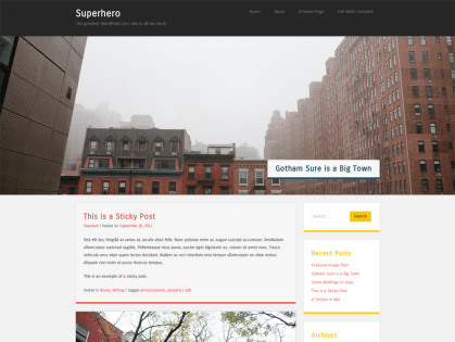 Superhero WordPress Theme