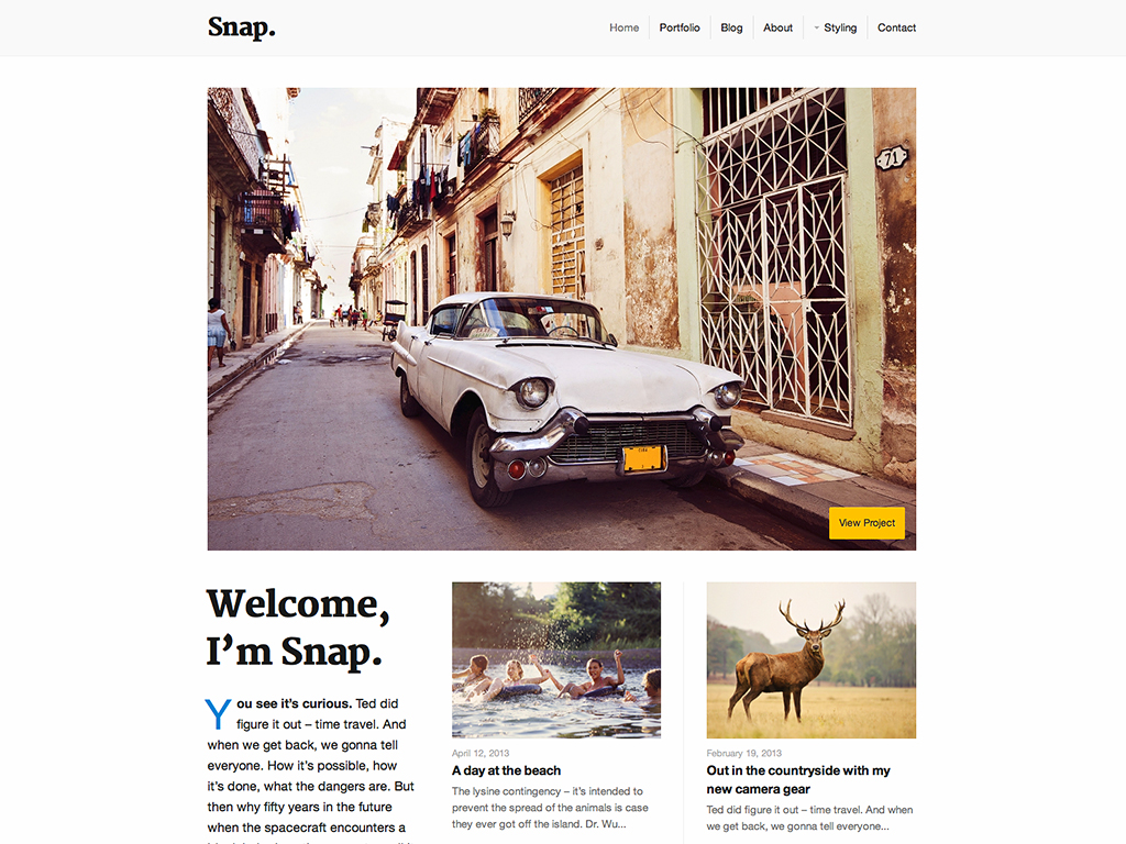 Snap WordPress Theme