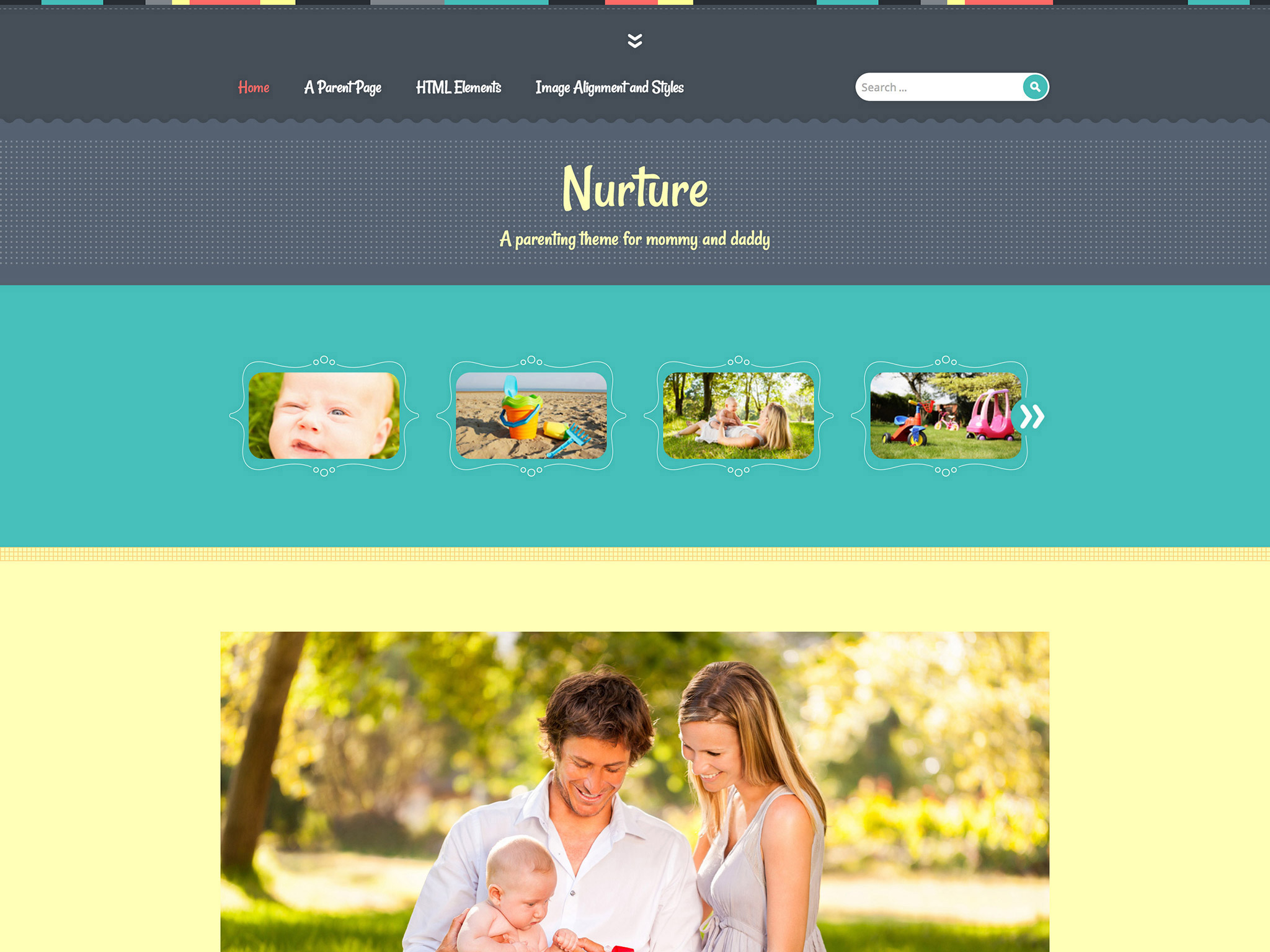 Nurture WordPress Theme