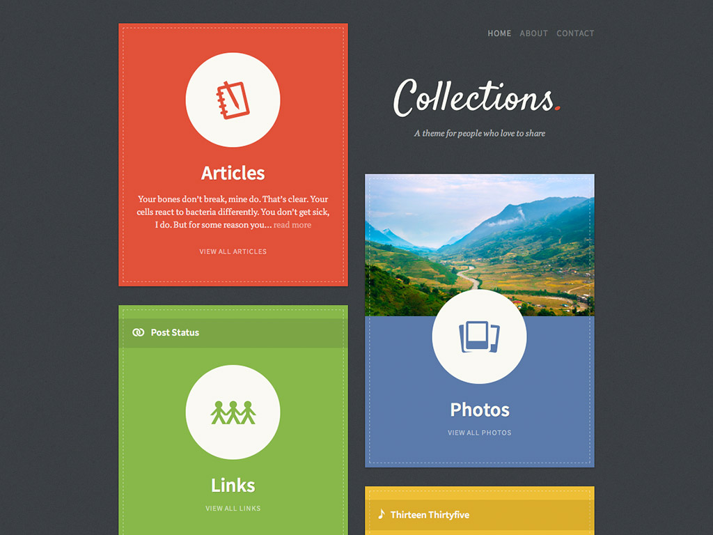 Collections WordPress Theme