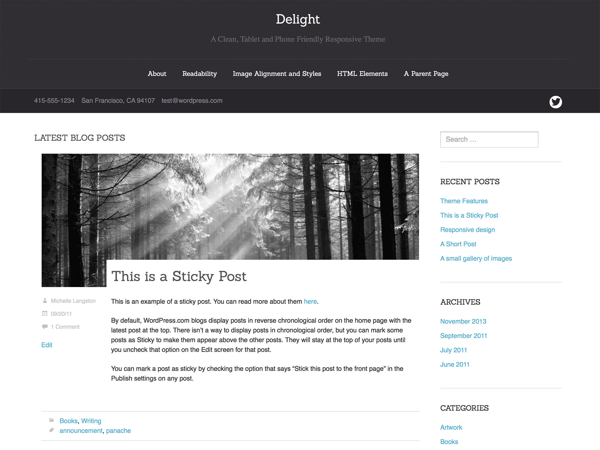 Delight WordPress Theme