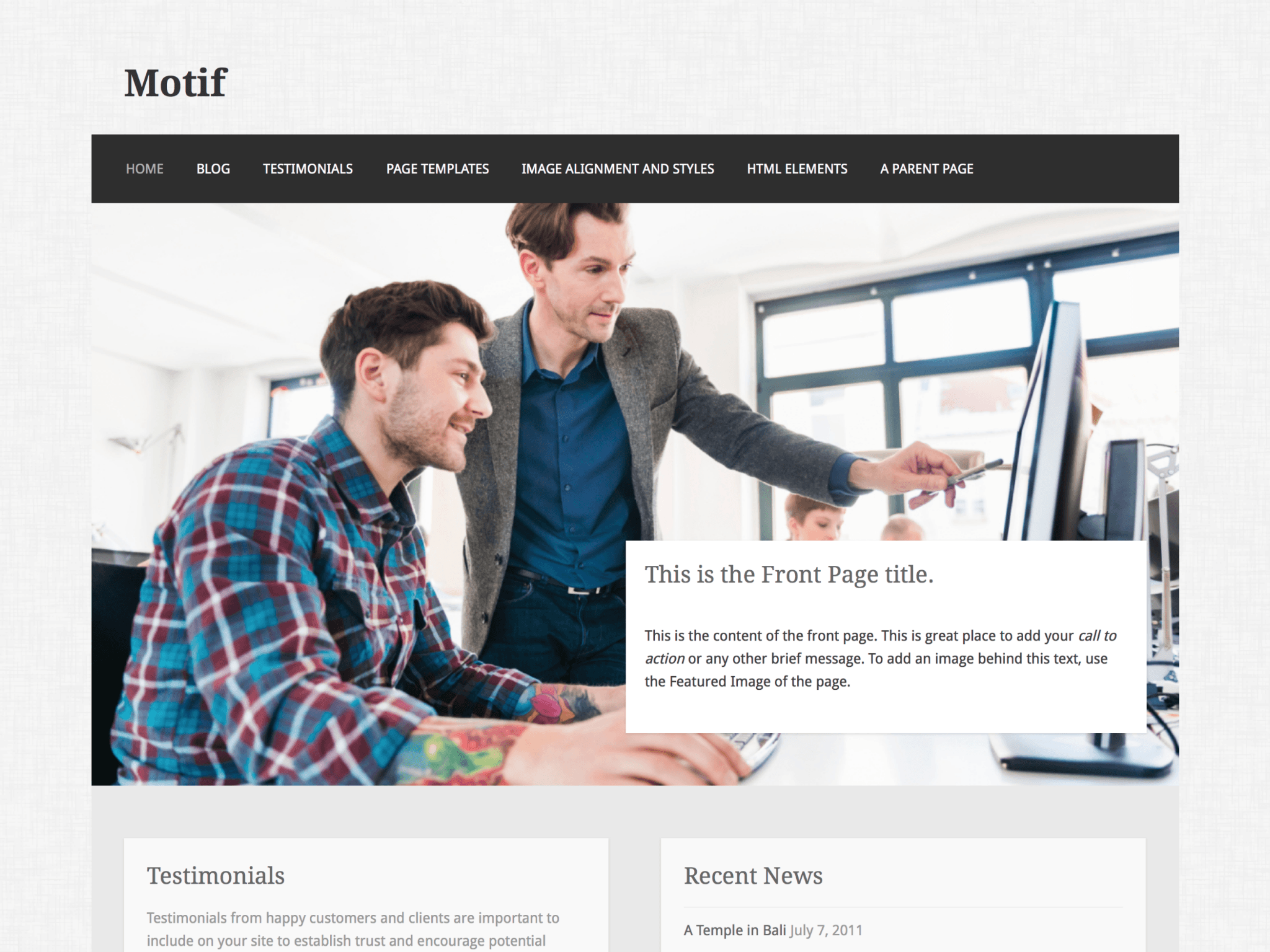 Motif WordPress Theme