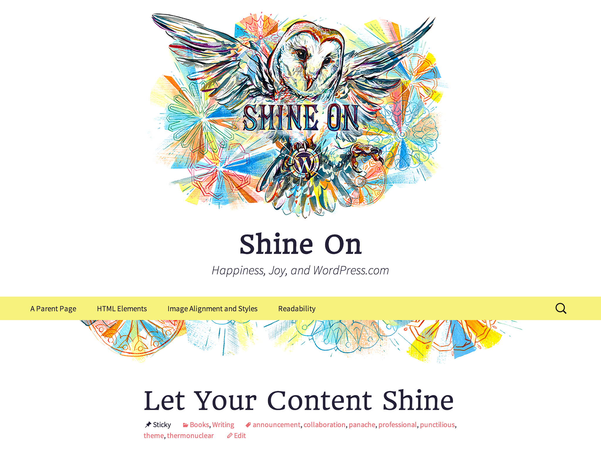 Shine On WordPress Theme