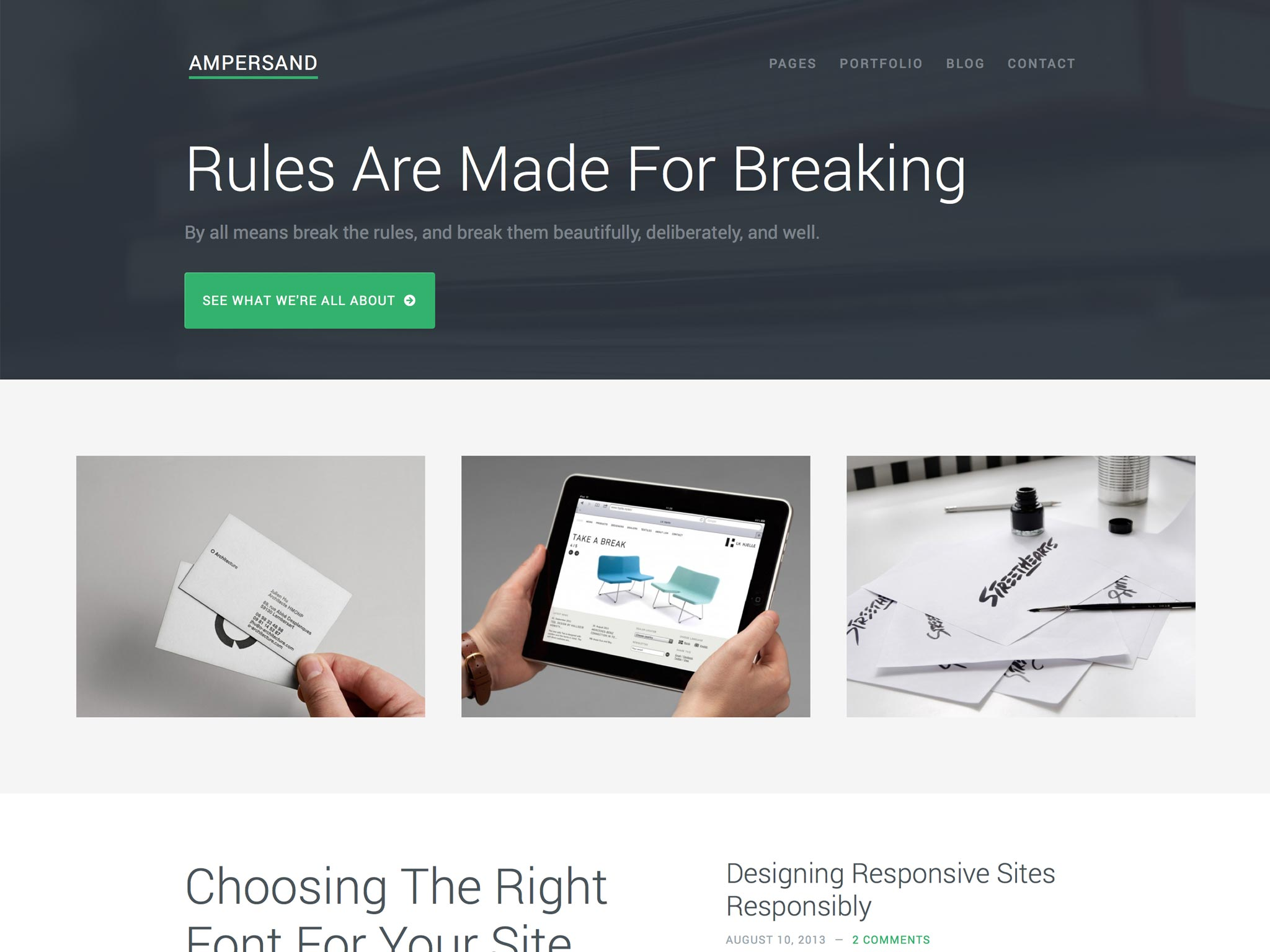 Ampersand WordPress Theme