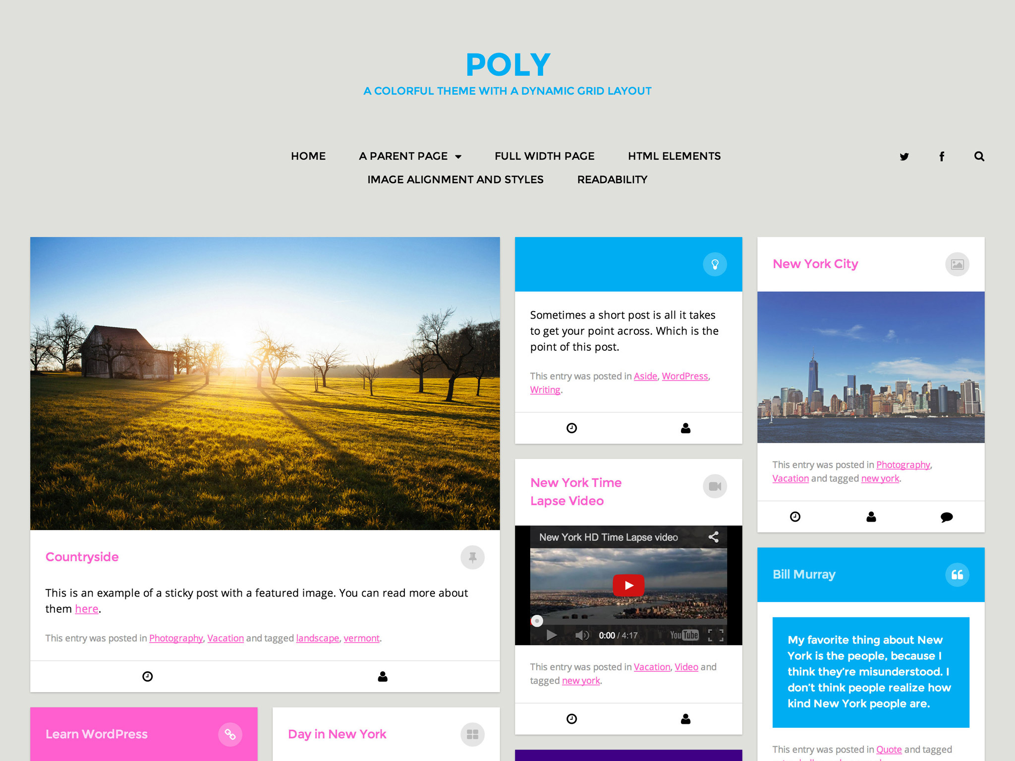 Poly WordPress Theme