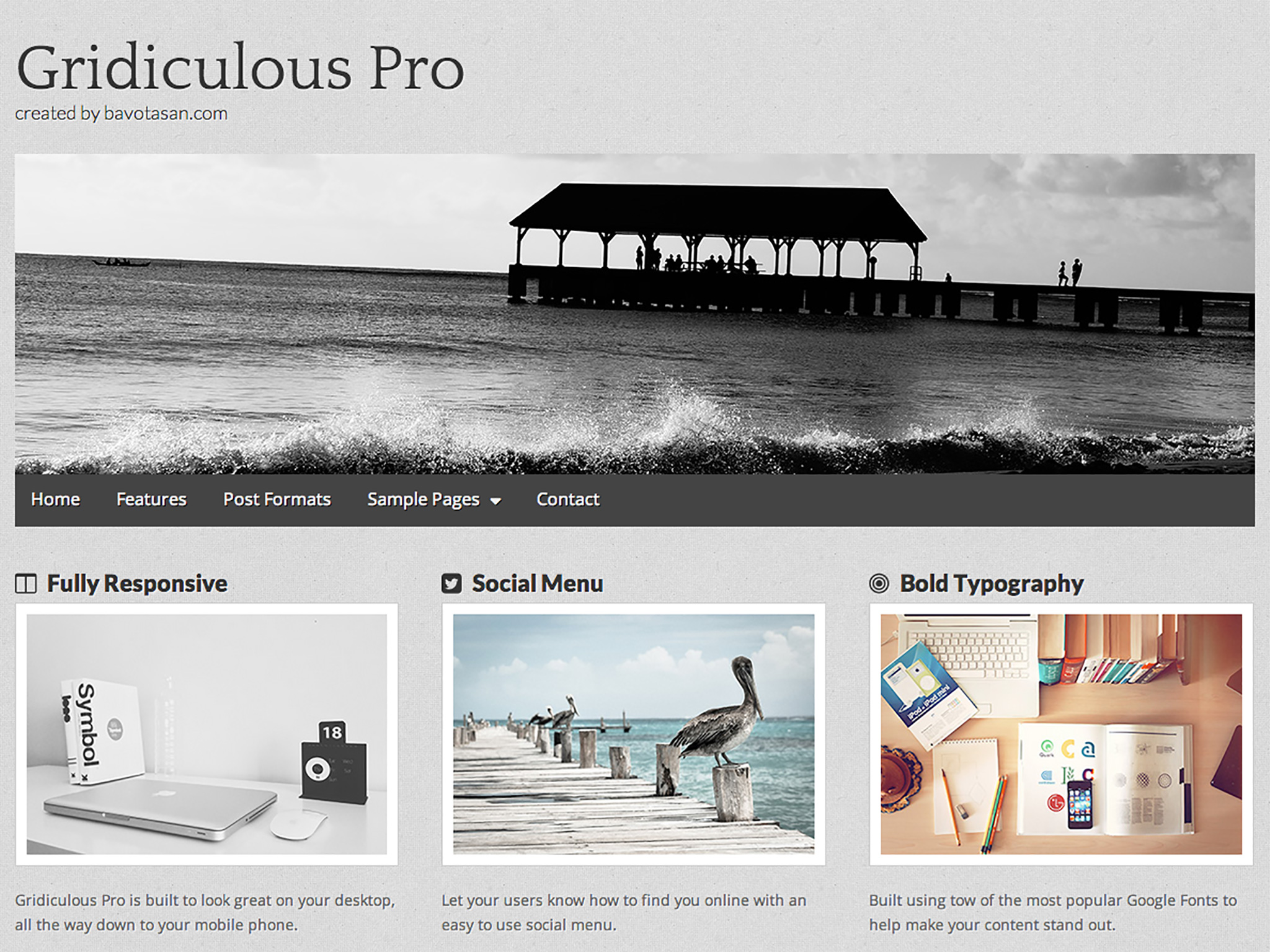 Gridiculous Pro WordPress Theme