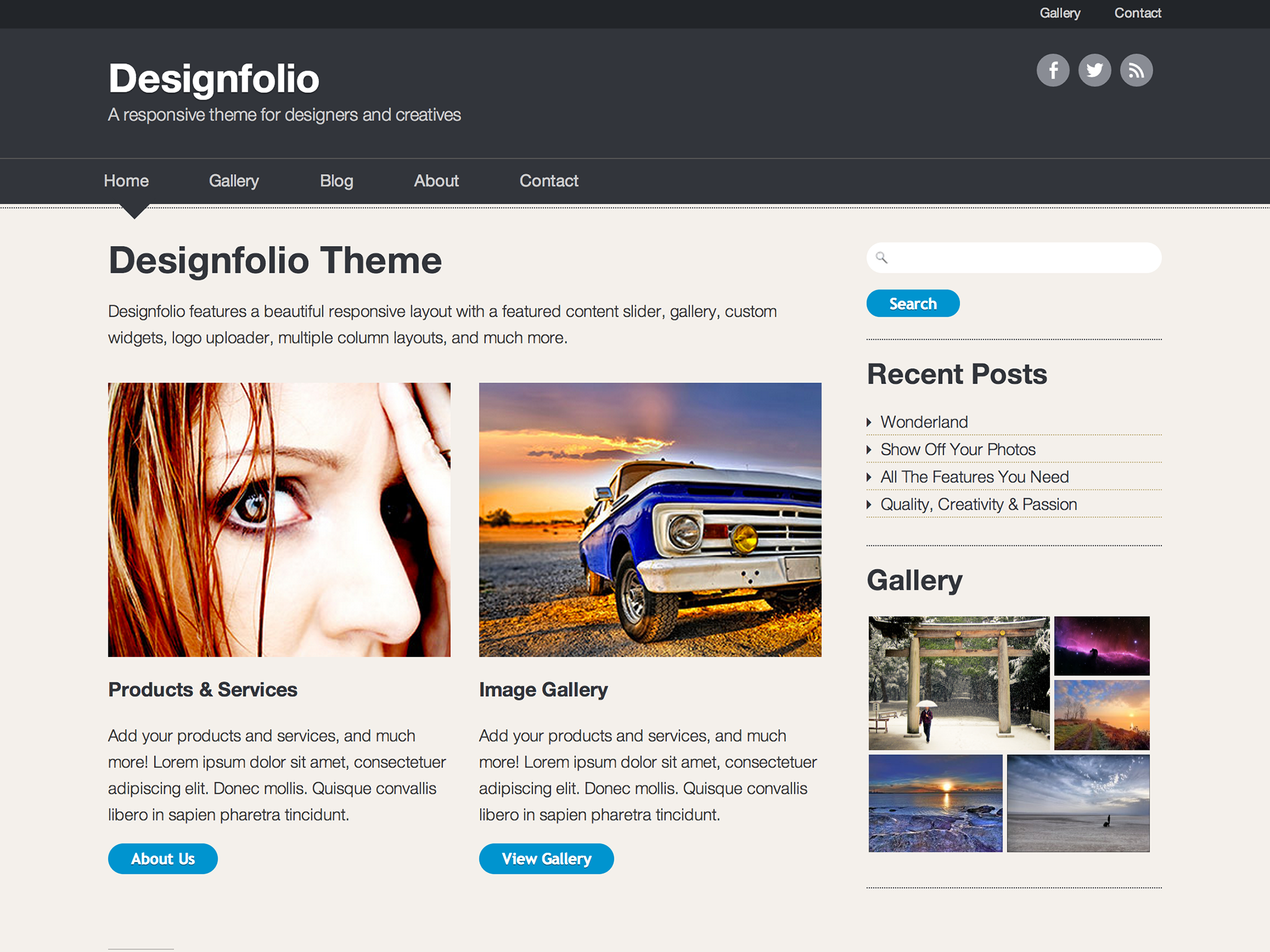 Designfolio WordPress Theme