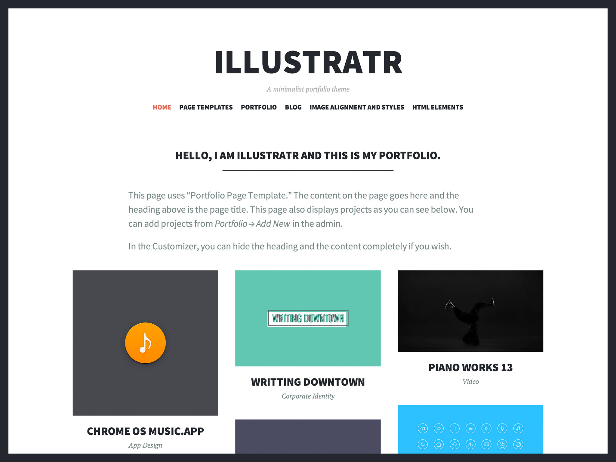 Illustratr WordPress Theme