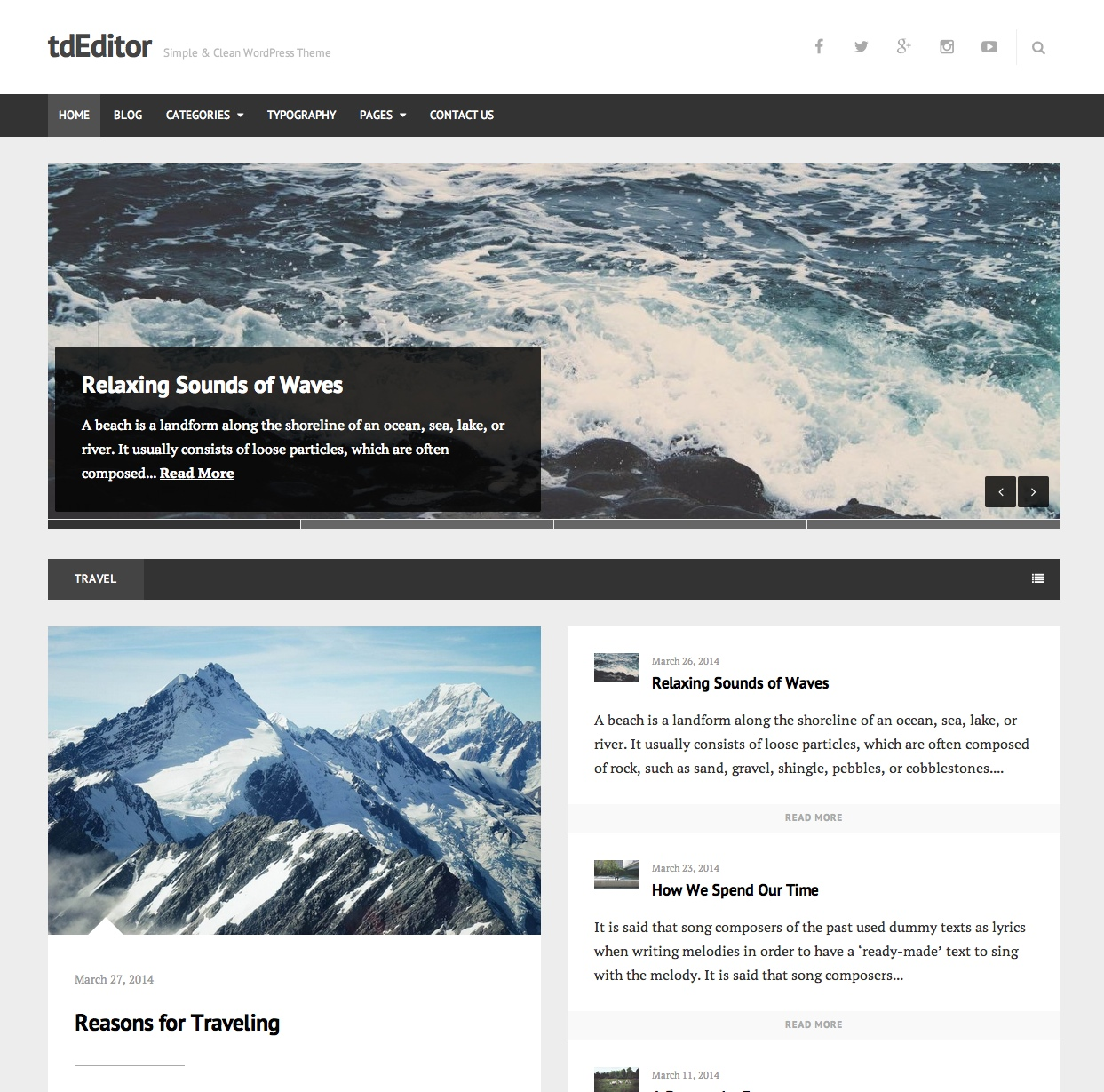 tdeditor WordPress Theme