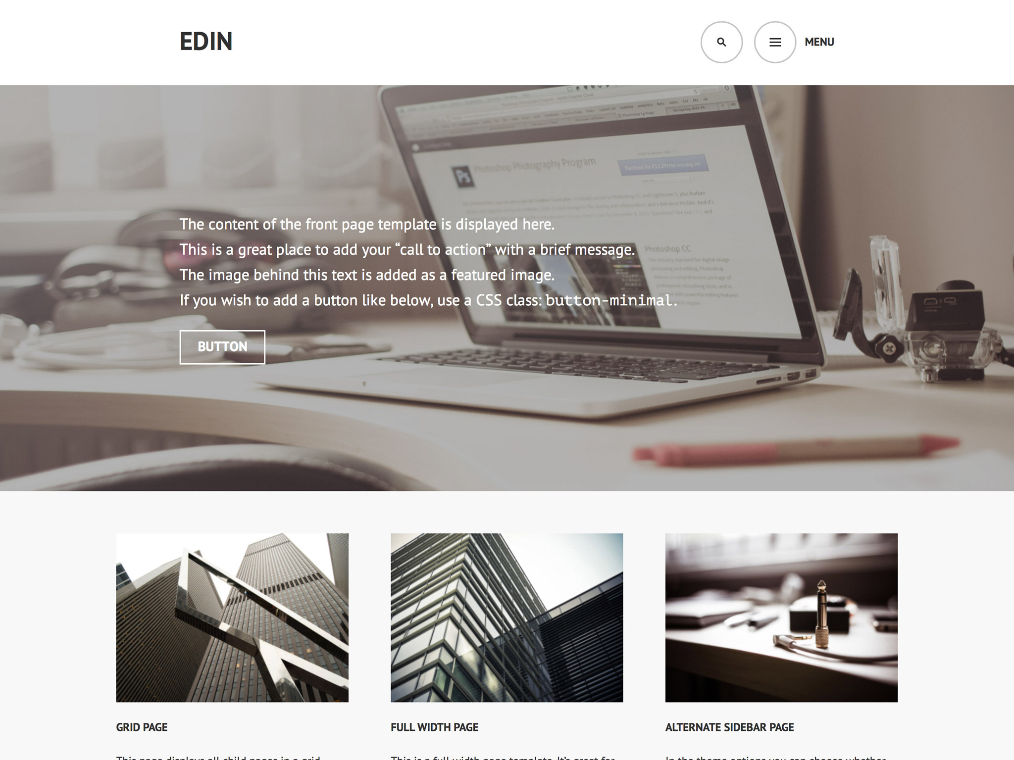 Edin WordPress Theme