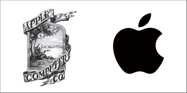 Apple Brand New and Old Logos