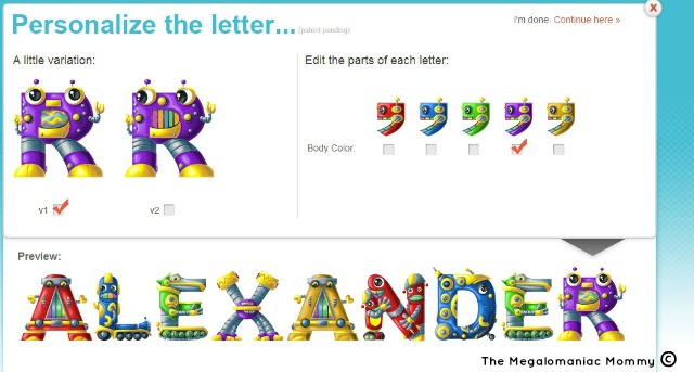 Name Art for Kids Personalizing Screenshot