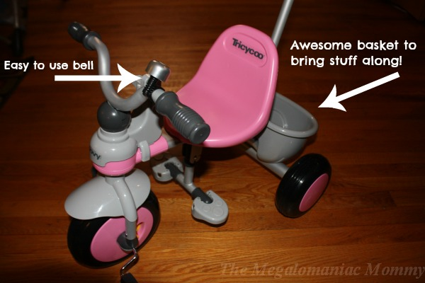 Joovy Tricycoo Fun Features