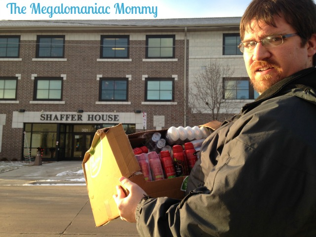 Old Spice donation to the Shaffer House at NEW Community Shelter Green Bay WI #OldSpice #HoliSPRAY #SmellcometoManhood #sponsored