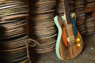 These Guitars Are Made From Used Skateboard Decks