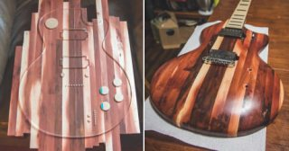 This Artist Made An Electric Guitar Out Of A Local California Hardwood.