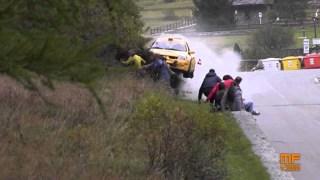 Big rally car crash at Jolly Rally Valle d'Aosta 2014