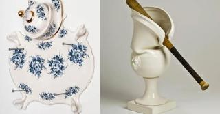 Porcelain Vessels Pummeled in Unfortunate Accidents by Laurent Craste