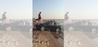 They park their Porsche halfway in the water. What they do next will have you scratching your head.