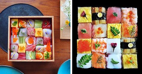 "New ""Mosaic Sushi"" Trend Turns Lunch Into a Visually Stimulating Work of Modern Art"