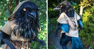 Handmade Giant Raven Cosplay Costume