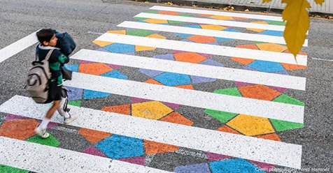 Madrid's Crosswalks Are Getting a Fun and Colorful Makeover