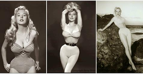 25 Beautiful Black and White Portrait Photos of Betty Brosmer – The Girl with the Impossible Waist