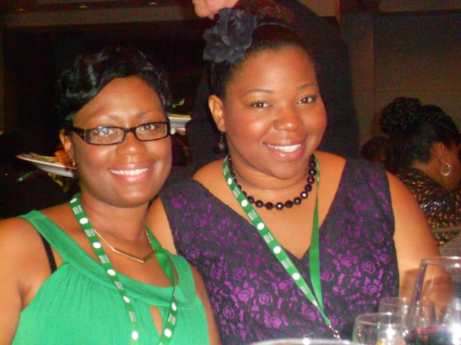 Dallas Texas HIPPY Coordinators Yolanda Wilkerson (left) and Colleen Flair were among attendees at the 2014 National HIPPY Conference
