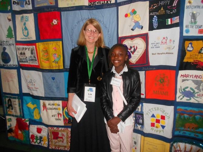 HIPPY USA Executive Director Lia Dent and D.C. HIPPY graduate Taylor Black.