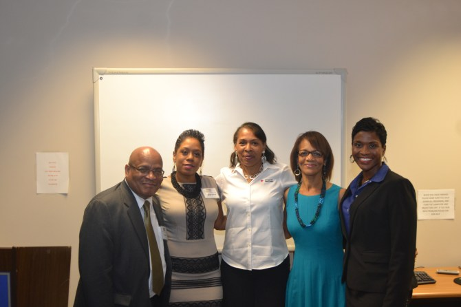Event organizers (l-r): Lonnie Ross, Tameka Garrett, Jillnell Joiner, Jackie Hampton and Daphne McBeth