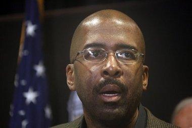 Rodney Bennett, president of the University of Southern Mississippi (AP Photo/Rogelio V. Solis)