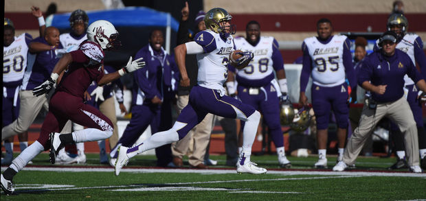 John Gibbs, Jr. runs for a touchdown as Alcorn State Braves and Alabama A&M Bulldogs play in an afternoon game Saturday, November 8, 2014 at Alabama A&M in Huntsville, Ala. (Eric Schultz / eschultz@al.com)