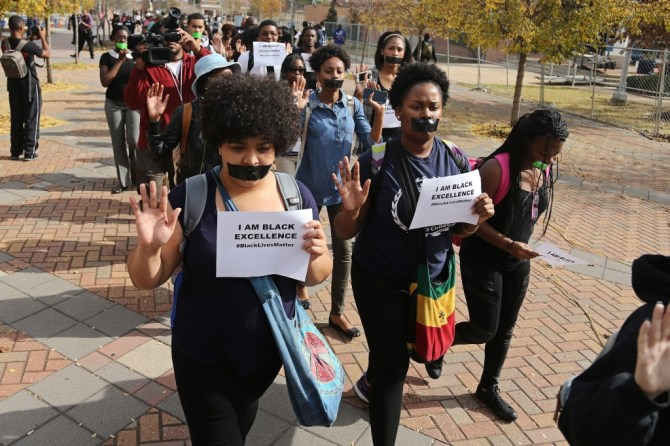 Jackson State University students march to protest the Ferguson, Mo., grand jury inaction in the shooting death of Michael Brown, Dec. 1, 2014. (Photos by Charles A. Smith, JSU)