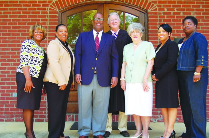 Terry Mayor Roderick Nicholson (3rd from the left)