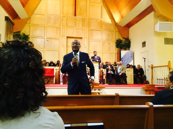 Pastor Jerry Young was the guest speaker for the anniversary service. Photo by Jackie Hampton