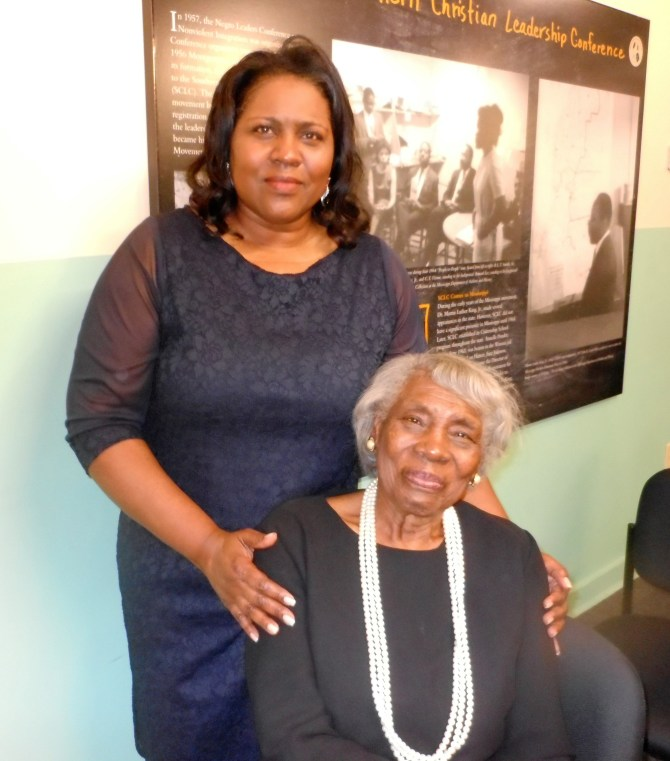 Carol Ann Madison, wife of the late Rev. Dr. Isaiah Madison, is shown with her mother, Helen Miller. Photo by Stephanie R. Jones