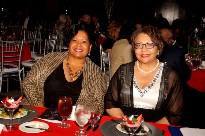 Reena Evers-Everette and Tougaloo President Beverly W. Hogan