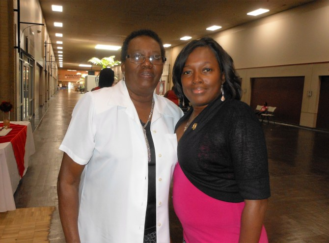 Nancy Julius (left) is shown with her daughter Jeanne Tate, 44, who has sickle cell anemia. photo by Stephanie R. Jones