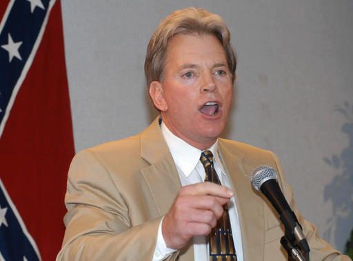 In this May 29, 2004, file photo, former Ku Klux Klan leader David Duke speaks to supporters in Kenner, La. Duke said he plans to run for U.S. Senate in Louisiana. Duke's announcement came Friday, July 22, 2016, on his website. (AP file photo)