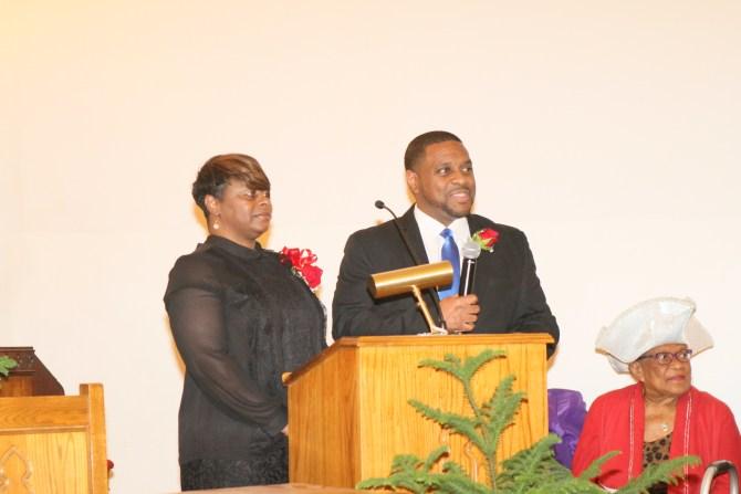 Newly ordained Deacon Darryl Jenkins and wife Sandra Jenkins
