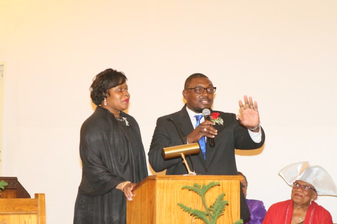 Newly ordained Deacon Jeremiah Barnes and wife Grace Barnes