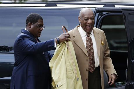 Bill Cosby arrives for a pretrial hearing in his sexual assault case at the Montgomery County Courthouse, Monday, Feb. 27, 2017, in Norristown, Pa. (AP Photo/Matt Slocum)