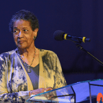 Myrlie Evers, a civil rights activist and the widow of Medgar Evers, said that she was in a state of despair, hurt and anger following the tragedy in Charlottesville, Va. In this photo Myrlie Evers, speaks during the special tribute to the life and legacy of Dick Gregory in Landover, Md. photo by Freddie Allen/AMG/NNPA