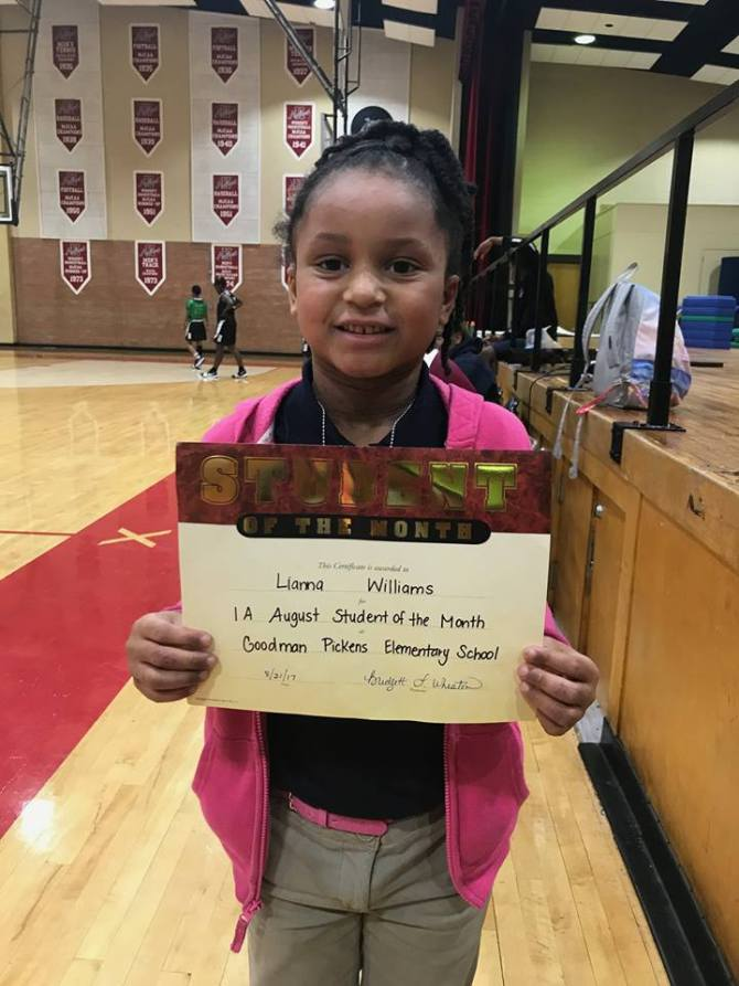 According to her father, this CSLC HIPPY graduate has earned 18 academic awards since entering Goodman-Picken Elementary School, Pickens, Miss. last fall 2017. (PHOTO: Courtesy of Parent)