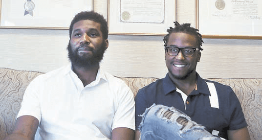Rashon Nelson and Donte Robinson in their attorney's office in Philadelphia. AP/FILE PHOTO