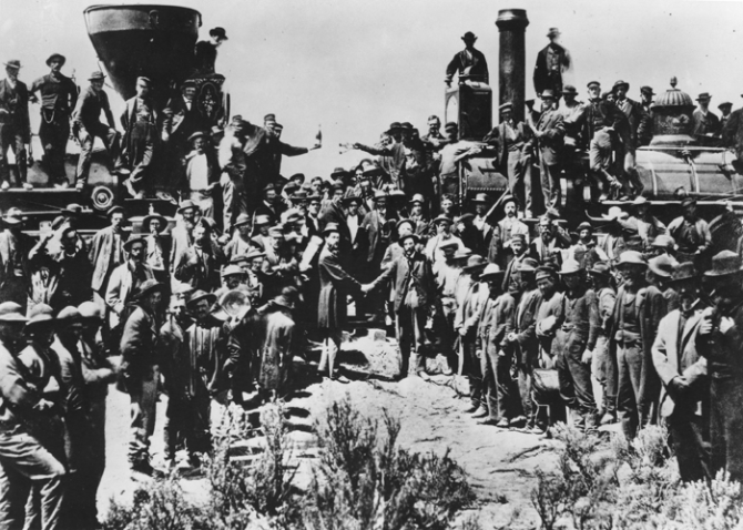 TCR 1869 official photo of the opening celebration – no Chinese workers are present.