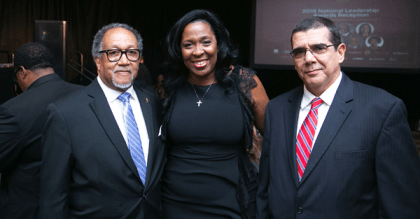 NNPA President and CEO Benjamin F. Chavis Jr., NNPA Chair and Houston Forward Times Publisher Karen Carter Richards and Cuban Ambassador to the United States, José Ramón Cabañas