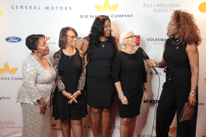 NNPA board of director officers interviewed on the Red Carpet after the event. (l-w) Fran Farrer, Jackie Hampton, Karen Carter Richards, Janis Ware and Angela Young, interviewer